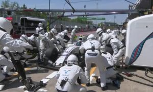 Williams tops DHL pit stop challenge... again!