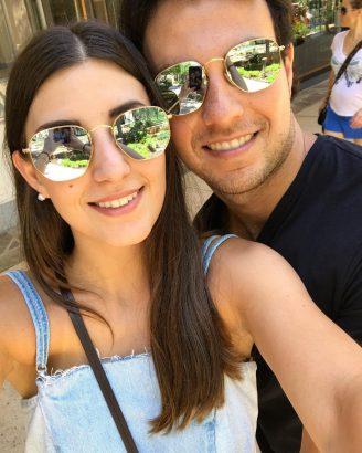 Sergio Perez and his wife  Carola Martinez