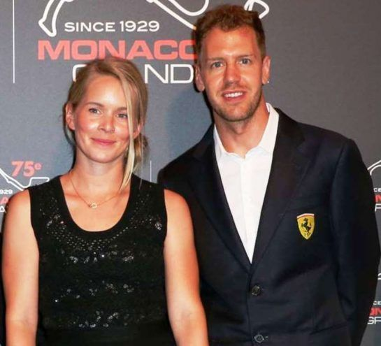 Hanna Prater and Sebastian Vettel attend an event together