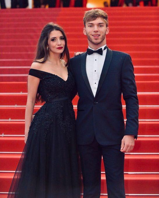 Caterina Masetti Zannini and Pierre Gasly attend an event together