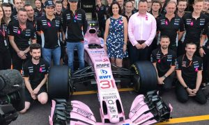 Force India and Breast Cancer Care stand together