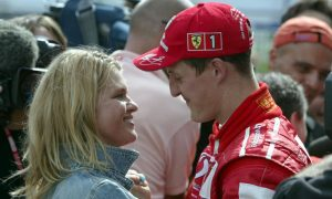 Michael Schumacher (D), Scuderia Ferrari and wife Corinna.