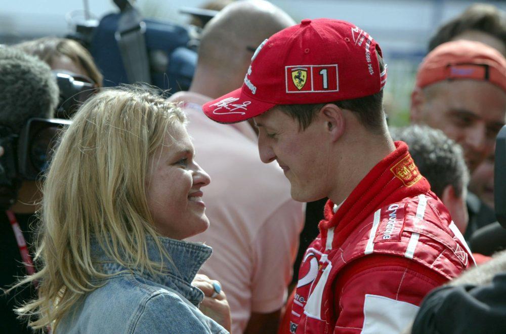 Michael Schumacher (D), Scuderia Ferrari and wife Corinna.