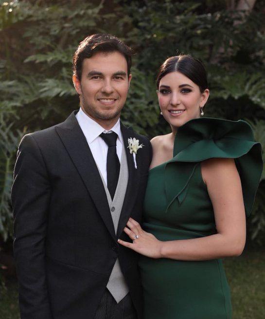 Sergio Perez and Carola Martinez got married in 2018