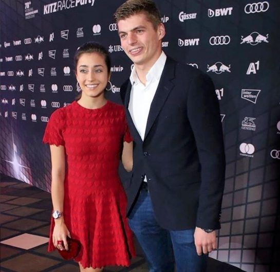 Max Verstappen and Dilara Sanlik attend an event together