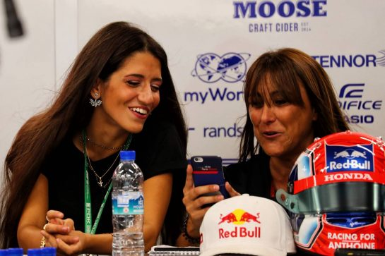 Caterina Masetti Zannini (ITA) girlfriend of Pierre Gasly (FRA) Scuderia Toro Rosso (Left). - www.xpbimages.com, EMail: requests@xpbimages.com - copy of publication required for printed pictures. Every used picture is fee-liable. © Copyright: Photo4 / XPB Images