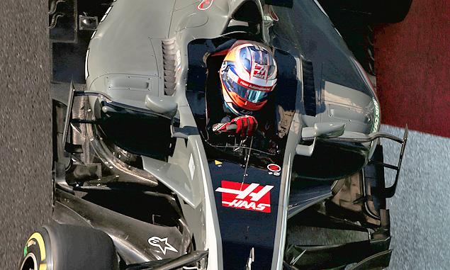 Romain Grosjea, Haas F1 Team, Azerbaijan Grand Prix