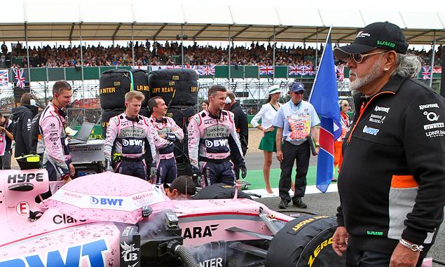 Force India team principal Dr Vijay Mallya on the grid at the British Grand Prix, Silverstone