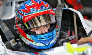 Paul di Resta takes his turn at the Williams wheel