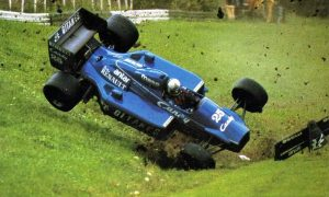 One crash too many for de Cesaris and Ligier