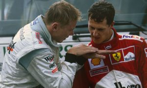 How did Schumacher react to Hakkinen's famous pass at Spa in 2000?