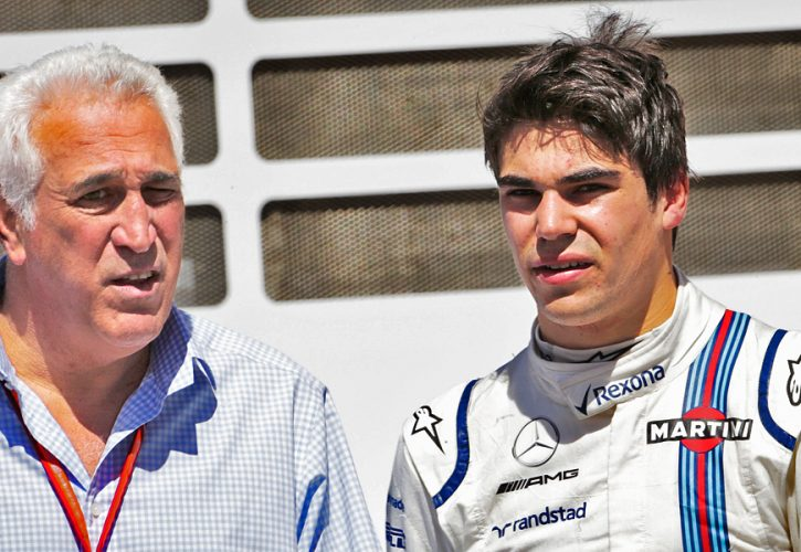 Williams driver Lance Stroll and his father Lawrence.