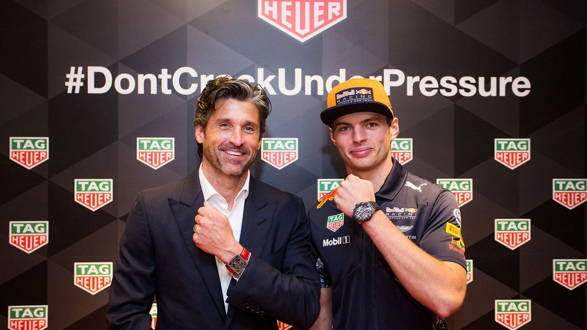 Verstappen And Dempsey Synchronize Their Watches