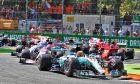 Lewis Hamilton, Mercedes, leading the Italian Grand Prix