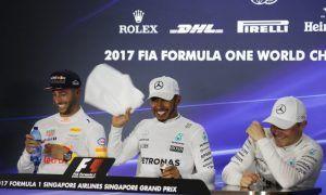 Bottas loses it as Ricciardo breaks wind!