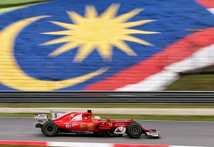 Sebastian Vettel, Ferrari, Malaysia Grand Prix