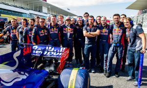 A send off from the troops for Carlos Sainz