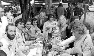 A table open to racers, family and friends