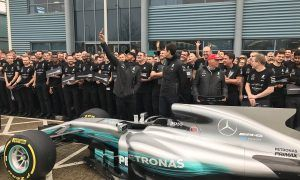Gallery: Mercedes turns out in force to celebrate title triumph