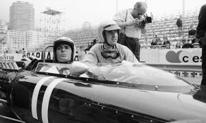 James Garner and Lorenzo Bandini get ready to roll