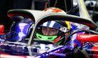 Brendon Hartley (NZL) Scuderia Toro Rosso STR12 with the Halo cockpit cover.