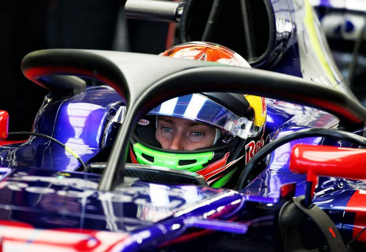 Brendon Hartley (NZL) Scuderia Toro Rosso STR12 with the Halo cockpit cover.