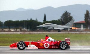 Was Michael Schumacher faster than a fighter jet?
