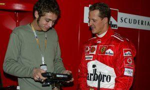 Schumacher astonished by Rossi's F1 test, remembers ex-Ferrari man