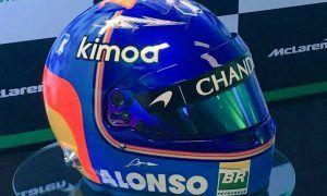 Here it is: Fernando Alonso's 2018 helmet!