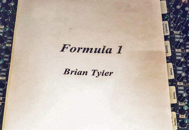 Brian Tyler starts work on new Formula 1 signature theme.
