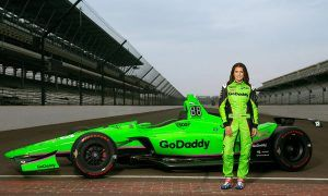 One last time in GoDaddy Green for Danica