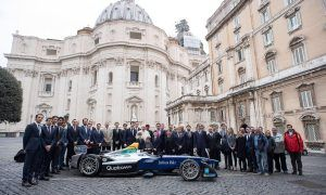 His Holiness Pope Francis gives his blessing to Formula E