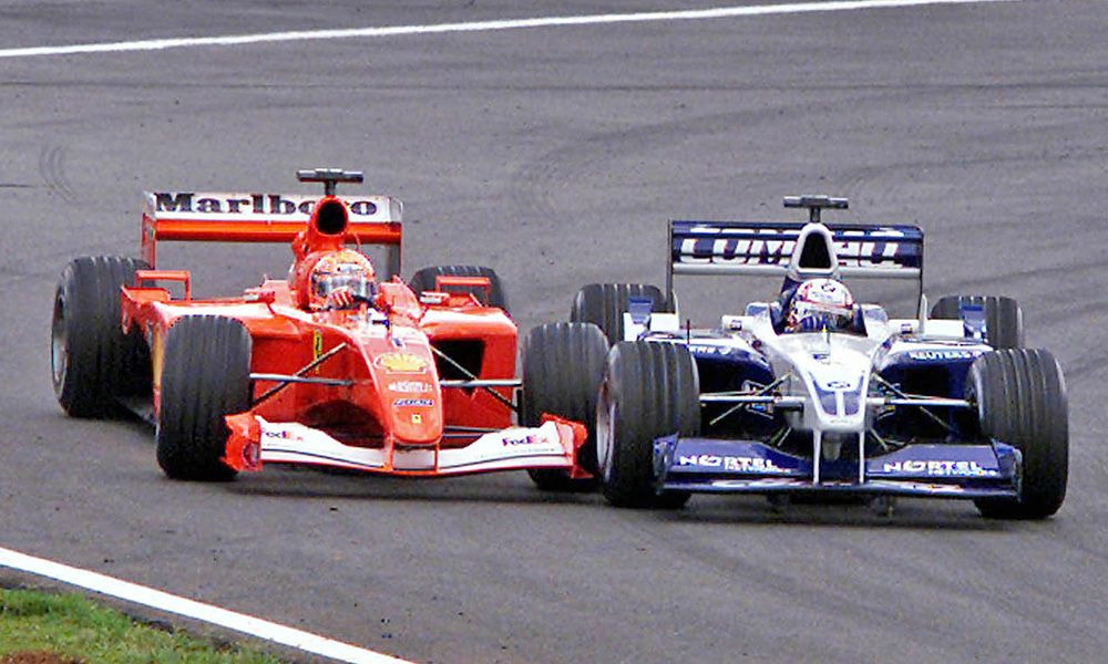 MIchael Schumacher (Ferrari), Juan Pablo Montoya (Williams) - 2001 Brazilian Grand Prix