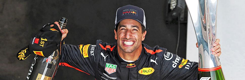 Chinese Grand Prix - Race winner Daniel Ricciardo