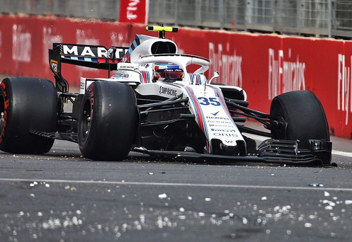 Sergey Sirotkin (RUS) Williams FW41 retired from the race