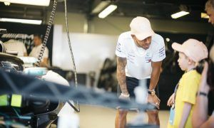 Hamilton takes the time to grant a very special wish