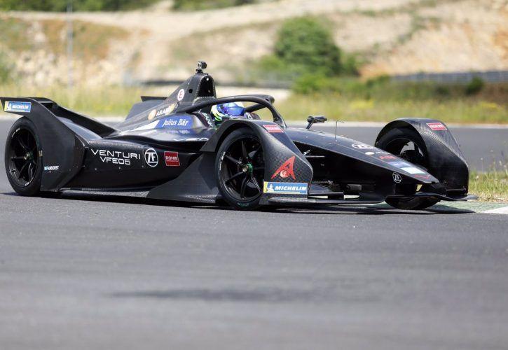 Felipe Massa tests in the Venutir Formula E Gen-2 car.