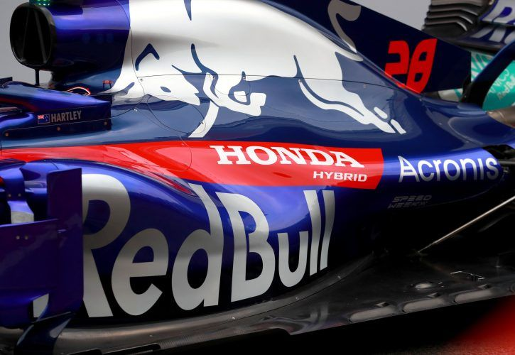 Honda atmosphere. Toro Rosso engine cover.