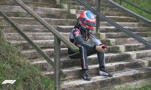 Angry Hulkenberg says Grosjean has 'some homework to do'