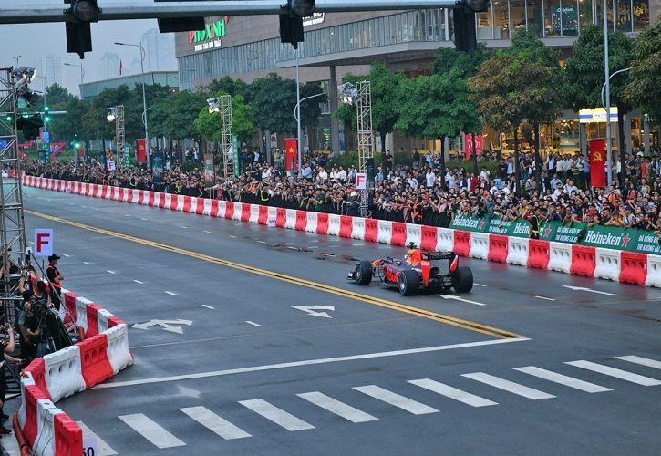 Red Bull demonstration run in Vietnam - May 2018