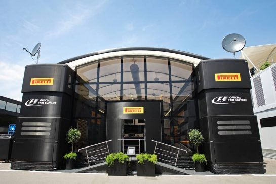 Pirelli motorhome. 07.05.2015. Formula 1 World Championship, Rd 5, Spanish Grand Prix, Barcelona, Spain, Preparation Day. - www.xpbimages.com, EMail: requests@xpbimages.com - copy of publication required for printed pictures. Every used picture is fee-liable. © Copyright: Photo4 / XPB Images