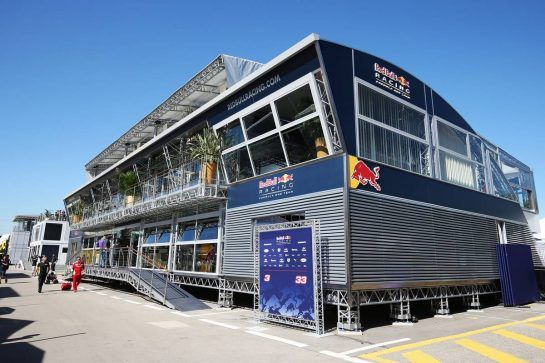 Red Bull Energy Station. 12.05.2016. Formula 1 World Championship, Rd 5, Spanish Grand Prix, Barcelona, Spain, Preparation Day. - www.xpbimages.com, EMail: requests@xpbimages.com - copy of publication required for printed pictures. Every used picture is fee-liable. © Copyright: Moy / XPB Images