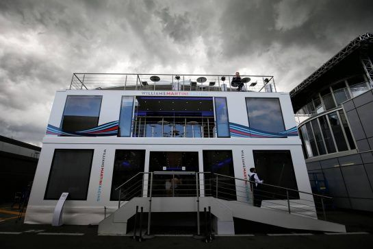 Williams motorhome. 11.05.2017. Formula 1 World Championship, Rd 5, Spanish Grand Prix, Barcelona, Spain, Preparation Day. - www.xpbimages.com, EMail: requests@xpbimages.com - copy of publication required for printed pictures. Every used picture is fee-liable. © Copyright: Moy / XPB Images
