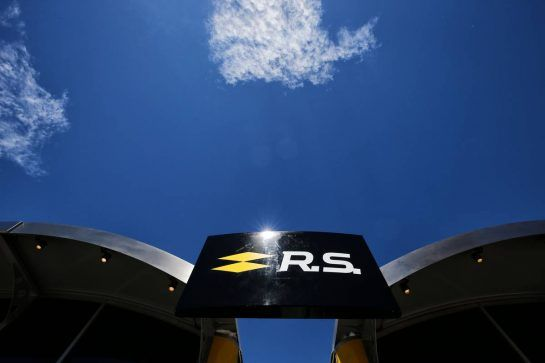 Renault Sport F1 Team motorhome. 12.05.2017. Formula 1 World Championship, Rd 5, Spanish Grand Prix, Barcelona, Spain, Practice Day. - www.xpbimages.com, EMail: requests@xpbimages.com - copy of publication required for printed pictures. Every used picture is fee-liable. © Copyright: Moy / XPB Images