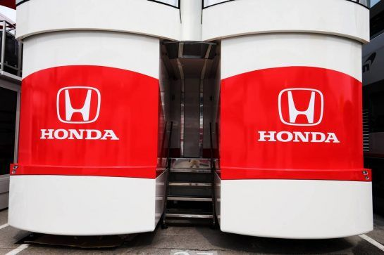 Honda motorhome. 10.05.2018. Formula 1 World Championship, Rd 5, Spanish Grand Prix, Barcelona, Spain, Preparation Day. - www.xpbimages.com, EMail: requests@xpbimages.com - copy of publication required for printed pictures. Every used picture is fee-liable. © Copyright: Moy / XPB Images
