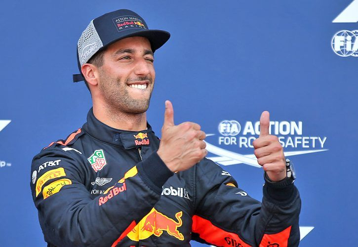 Daniel Ricciardo (AUS) Red Bull Racing RB14 gets pole position for Monaco Grand Prix