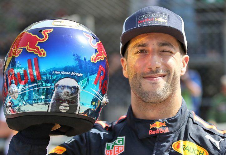 Daniel Ricciardo (AUS) Red Bull Racing RB14 gets pole position in Monaco