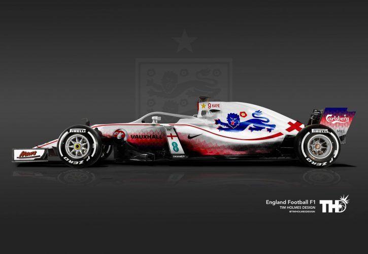 Tim Holmes' England F1 livery.