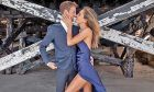 Racing driver Jenson Button and his fiancée, former model Brittany Ward.