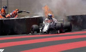 Ericsson ruled out of FP2 after fiery accident